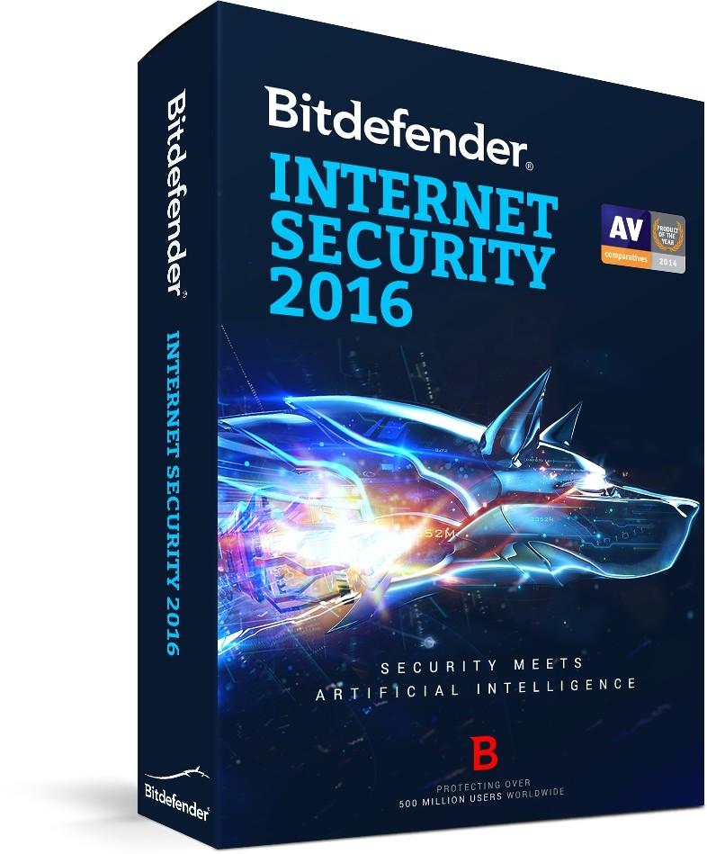 BitDefender Internet Security 2016 (1 stan. / 1 rok) - Nowa licencja