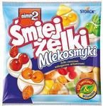 Storck Żelki owocowe nimm2 Śmiejżelki Mlekosmyki z odtłuszczonym mlekiem wzbogac