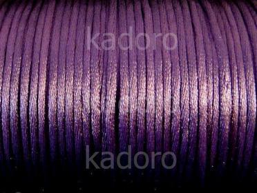 Sznurek satynowy fioletowy 2 mm - 3 m