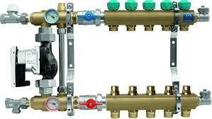 KAN 10-obiegowy rozdzielacz 1 do ogrzewania podłogowego z pompą elektroniczną WI