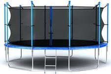Opinie o Hop-Sport Trampolina ogrodowa z siatką wewnętrzną 305 cm