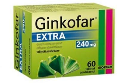 BIOFARM SP.Z O.O. Ginkofar Extra 60 Tabletek