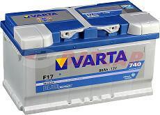 Varta A BLUE Dynamic F17 - 12V 80Ah 740A (EN) P+