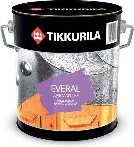Tikkurila emalia alkidowa Everal 30 Semi Mat 9L - Emalia alkidowa Ever
