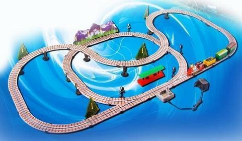 Kinderplay Kolejka elektryczna lokomotywy Ciuchcia 7m