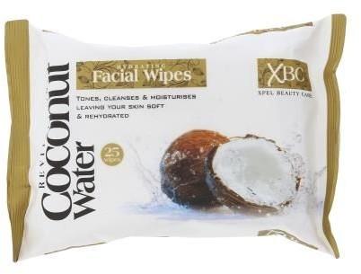 Xpel Xpel Coconut Water Facial Wipes 25szt W Chusteczki do twarzy 71240