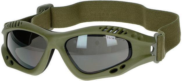 Mil-Tec Gogle Ochronne Commando Air Pro Przyciemniane Oliv