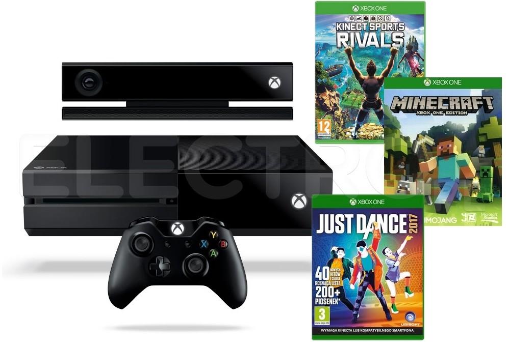 Opinie o Microsoft Xbox One 1 TB Czarny + Kinect + Minecraft + Just Dance 2017 + Kinect Sports Rivals