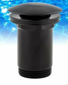 Omnires A706 BL Korek klik-klak do syfonu umywalkowego czarny mat A706 BL
