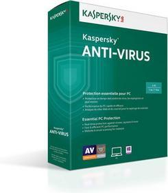 Kaspersky Anti-Virus 2015 ENG (3 stan. / 1 rok) - Nowa licencja