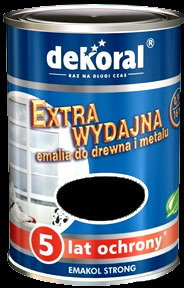 Dekoral Emalia Emakol Strong 5L Czarny - Emalia Emakol Strong 5L Czarny
