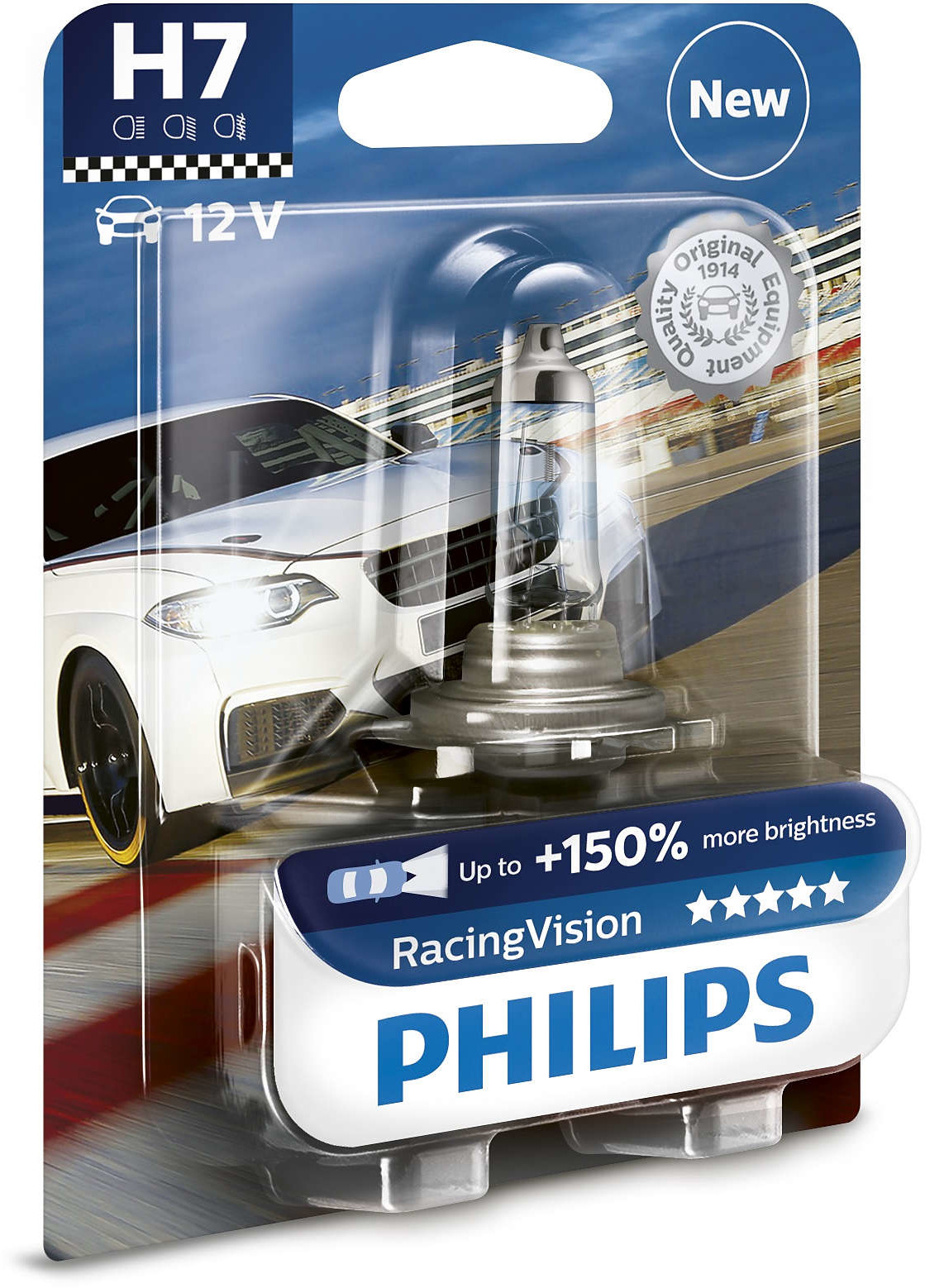 Philips PHILIPS H7 12V 55W PX26d Racing Vision