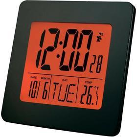 Renkforce Budzik Renkforce E0113R cyfrowy Sterowany radiowo Ilość alarmów 1 czarny DxS) 96 mm x 96 mm