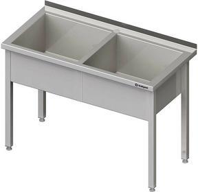 Stalgast Stół z basenem dwukomorowym spawany 1300x700x850 mm h=300 mm 981377130