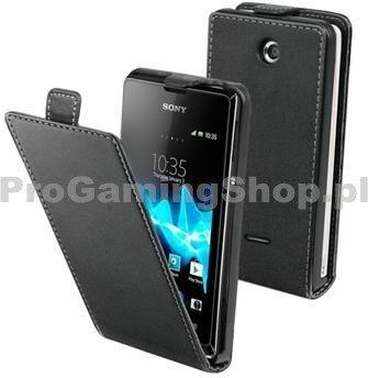 muvit Etui Xperia Flap dla Sony Xperia E C1505 a E Dual C1605, Black