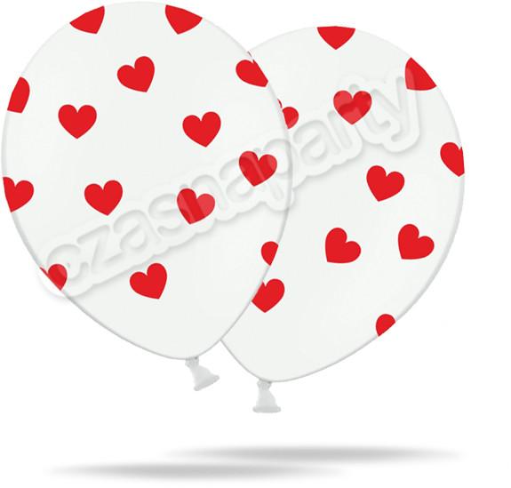 Opinie o Balon gumowy BIAŁY W CZERWONE SERDUSZKA 12 1 szt.