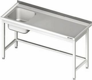 Stalgast Stół ze zlewem jednokomorowym (L) bez półki 1900x600x850 mm 980676190