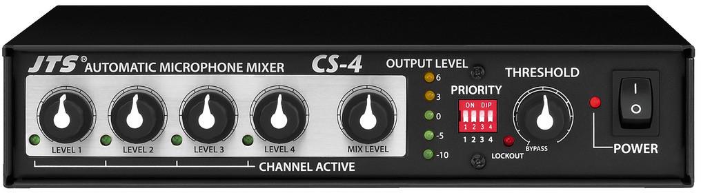 JTS CS-4 - automatyczne miksery mikrofonowe