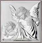 Obrazek Srebrny Anioł Stróż z latarenką Prezent dla Dziecka Grawer