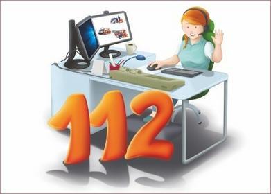 Tabliczka - Telefon alarmowy 112