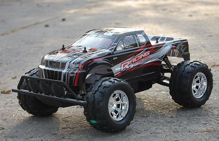 Import SUPER-TOYS MEGA JEEP RTR 53 CM 4X4, SUPER MOC HIT /4WD25 757-4WD25 CZARNY