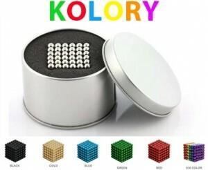 Neocube 5mm - różne kolory - magnetyczne kulki 216 szt. inny neocubecolor5
