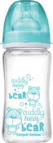 Canpol babies Butelka EasyStart PURE glass 240 ml Niebieska 3079002