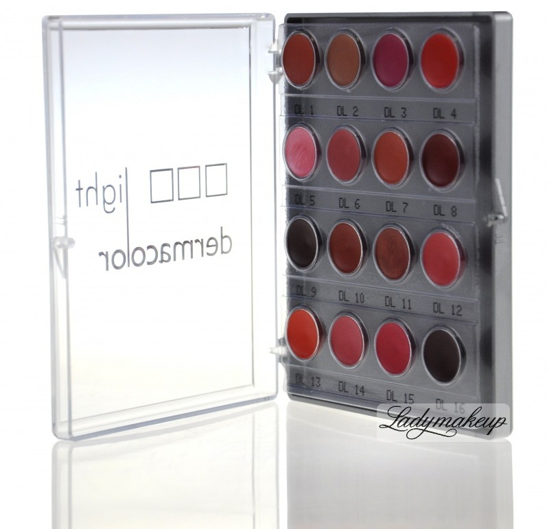 KRYOLAN Light Dermacolor - Mini paleta szminek do ust KR70126