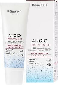 Biogened Angio Preventi lekki krem kryjący do twarzy do skóry wrażliwej i podrażnionej SPF 15 45 g