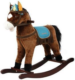 Smiki Koń na biegunach ciemno-brązowy