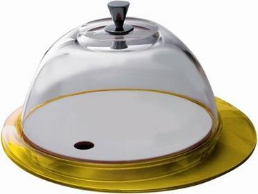 Bugatti Italy Casa Glamour Patera ze szklaną pokrywą, żółta GL6U-02152