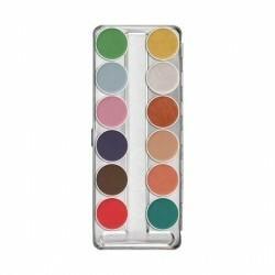 KRYOLAN Aquacolor Interferenz paleta 12 farb do twarzy i ciała Darmowa dostawa