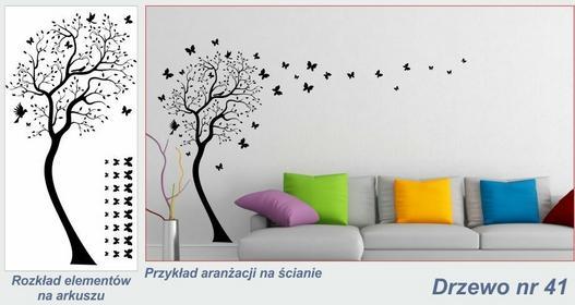 Naklejka Drzewo - nr 41