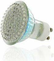 Whitenergy Żarówka LED GU10, 80 LED, 4W, 230V, ciepla 06975