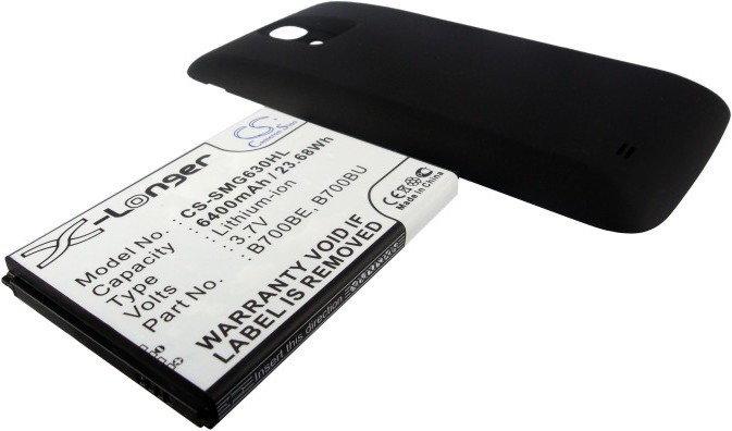 Cameron Sino Samsung Galaxy Mega 6.3 / B700BE 6400mAh 23.68Wh Li-Ion 3.7V powiększony czarny (CS-SMG630HL)