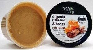 Organic Shop Miodowy cynamon peeling do ciała 250ml