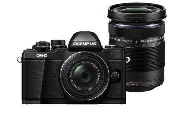 Olympus OM-D E-M10 Mark II + 14-42 mm EZ + 40-150 mm czarny