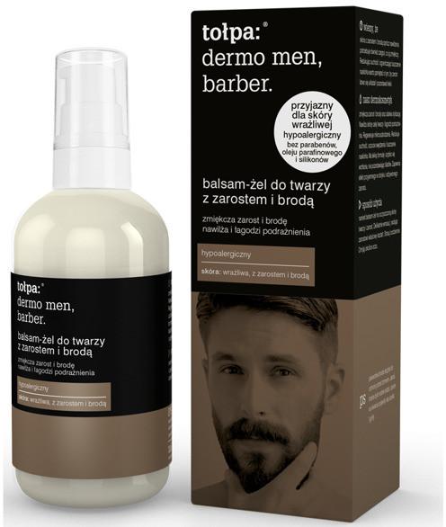 Tołpa Dermo Men Barber Balsamy-żel do twarzy z zarostem lub brodą 75ml