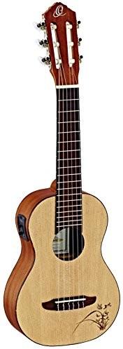 Ortega rgl5e pinii/mahoń guitarlele z wąską 47MM naszyjnik (odcień zaopatrują, grawerowanie laserowe) RGL5E