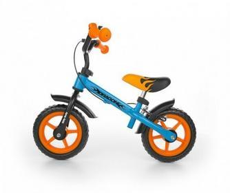 Milly Mally Rowerek biegowy Dragon z hamulcem pomarańczowo-niebieski