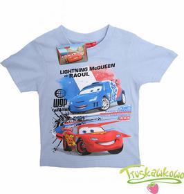 Disney Super niebieściutka koszulka Cars, T-shirt Auta