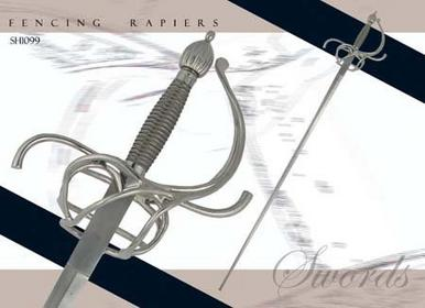 Swords SH1098 Practical Rapier - 43 inch blade