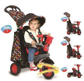 Smart Trike Boutique 4w1 pojazd/rowerek czerwony