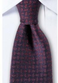 Allex Rodberg Ciemnofioletowy krawat ze wzorem KR1426