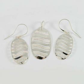 Komplet srebrny wisiorek + kolczyki W20/0 K24/0 (W20/0 K24/0)