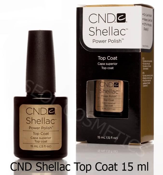CND Shellac Top Coat 15ml do Lakier hybrydowego
