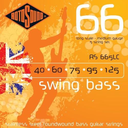 Rotosound rotos górne rs665lc Swing Bass struny do E-String Bass gitara (5) RS665LC