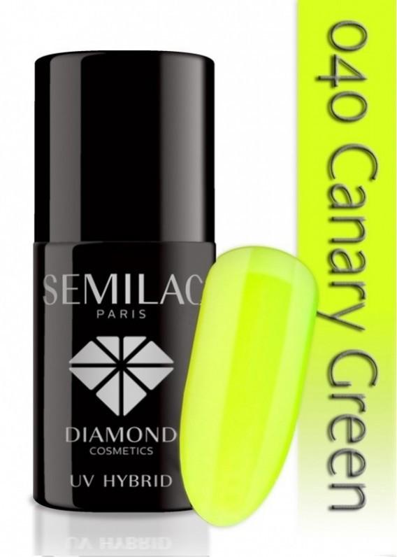 Semilac UV Hybrid lakier hybrydowy 040 Canary Green 7ml