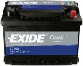 Exide Classic 55Ah 460A EC550 P+