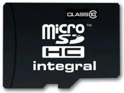 Integral Micro SDHC Class 10 (+ adapter) 16GB (INMSDH16G10-20V2)